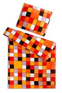Mikroflanelové obliečky Kocka oranžová