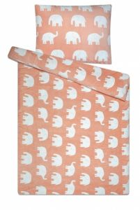 Krásny nevšedný dezén na mikroflanelovém posteľných obliečkach Slony, | 140x200, 70x90 cm