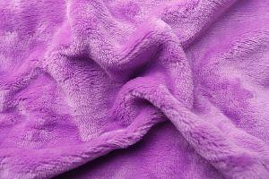 Kvalitné a hrejivé plachta z mikroflanel vo farbe fialovej (lila), | rozmer 90x200 cm.