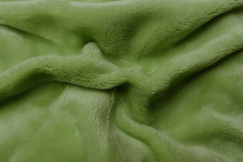 Napínacie jednofarebné mikroflanelové plachta vo farbe zelenej (kivi), Svitap