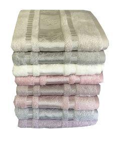 Vysoko kvalitné uteráky a osušky Bamboo deluxe organic 450g / m2, | uterák rose, rozmer 50x90 cm.
