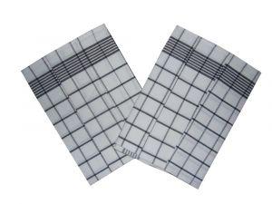 Utierka Negativ Egyptská bavlna biela / čierna 50x70 cm balenie 3 ks