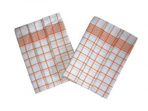 Utierka Negatív Egypt.bavlna 50x70 - biela / oranžová - 3ks