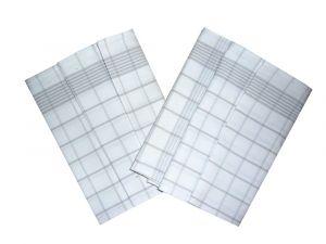 Utierka Negativ Egyptská bavlna biela / šedá balenie 50x70 cm 3 ks