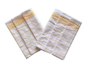 Utierka Negatív Egyptská bavlna biela / žltá - 3 ks   rozmer 50x70 cm.