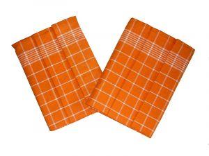Utierka Pozitív Egypt.bavlna 50x70 - oranžová / biela - 3 ks