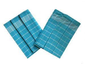 Utierka Pozitív Egyptská bavlna tyrkys/biela - 3 ks