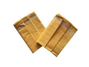 Utierka Pozitív Egyptská bavlna žltá / biela - 3 ks   rozmer 50x70 cm.