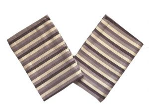 Utierky Bambus Pruh fialový - 3 ks