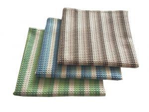 Dôležitý pri umývaní v pestrých farbách kvalitnej vaflový uterák, | hnedý, rozmer 50x100 cm., modrý, rozmer 50x100 cm., zelený, rozmer 50x100 cm.