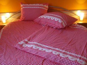 Bavlnené obliečky Kanafas červený