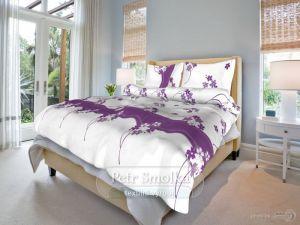 Bavlnené obliečky Kvetinka fialová