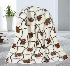 Vlnená deka 155 x 200 cm javor - európske merino