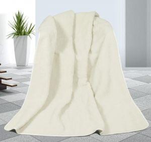 Vlnená deka DUO 155 x 200 cm biely baránok - austrálske merino