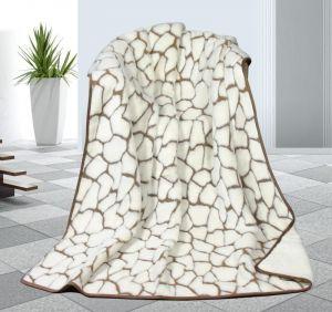 Vlnená DUO deka 155 x 200 cm kamene - Kašmír