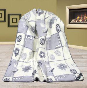 Vlnená DUO deka 155 x 200 cm patchwork - Alpaka