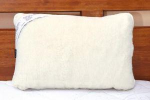 Vlnený vankúš 40 x 60 cm biely - austrálskej merino