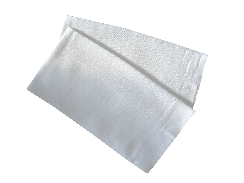 Kvalitná detská bambusová látková plienka - biela (balenie 5 ks), PREM INTERNACIONAL