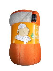 Deka Mikrovlákna deka Ovce oranžová / biela