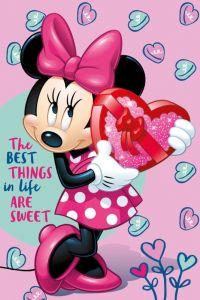 Detská fleecová deka Minnie pink