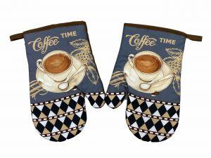 Kuchynská chňapka 2 ks Coffee time | Kuchynská chňapka 2 ks Coffee time