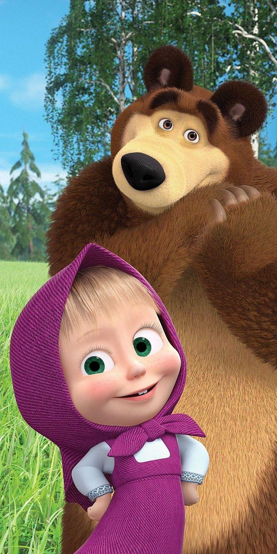 Bavlnená osuška pre deti Máša a Medveď 70x140 cm Jerry Fabrics