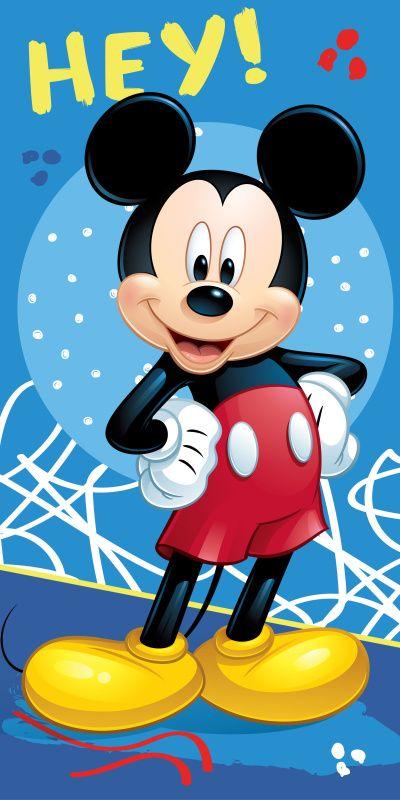 Modrá osuška pre deti s motívom Mickey 043 Jerry Fabrics