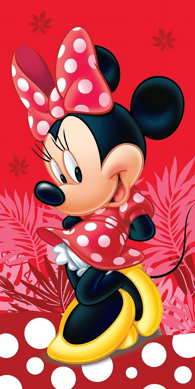 Detská plážová osuška pre dievčatká Minnie Red Spot, Jerry Fabrics