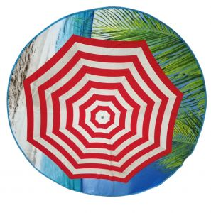 Kvalitné kruhová plážová osuška Slnečník, | rozmer - priemer 150 cm.
