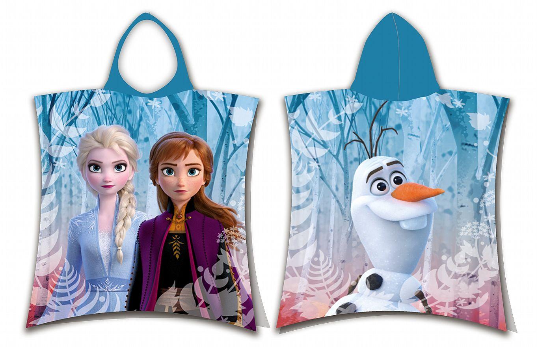 Plážová osuška pončo Frozen 2 Jerry Fabrics