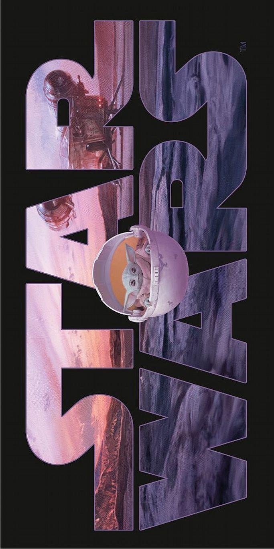 Plážová osuška Star Wars Mandalorianov 70x140 cm Jerry Fabrics
