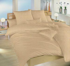 S obľúbeným motívom bodiek kvalitné bavlnené posteľné obliečky Bodky béžový,   140x200, 70x90 cm, 140x220, 70x90 cm