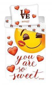 """Bavlnené obliečky Emoji """"You are so sweet"""""""