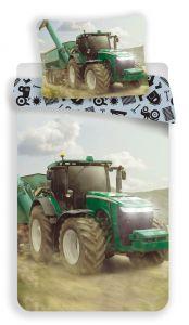 Obliečky fototlač Traktor green