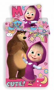 Obliečky Máša a Medveď rainbow