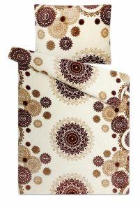 S geometrickým vzorom kvalitný a hrejivé mikroflanelové posteľné obliečky Mandaly vanilka, | 140x200, 70x90 cm