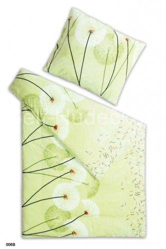 S motívom kvetín kvalitné obliečky z mikroflanel Púpava pistácie, Svitap
