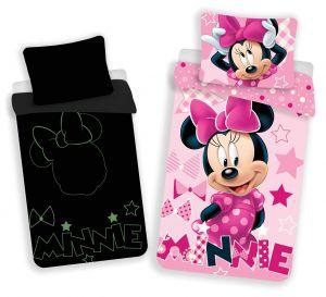 Bavlnené obliečky Minnie 072 svietiaci efekt