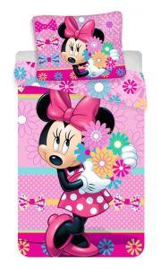 """Bavlnené obliečky Minnie """"bows and flowers"""""""