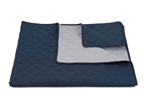 Prehoz na posteľ Ultra 52R-66-390 tmavo modrá / svetlo šedá, | 135x245 cm, 235x280 cm