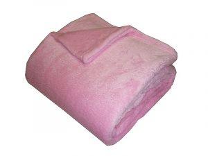 Jednofarebná kvalitná super soft deka v ružovej farbe,   150x100 cm, 150/200 cm
