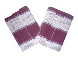 Utierka bavlnená Extra savá 50x70 - Čajová súprava černicová - 3 ks