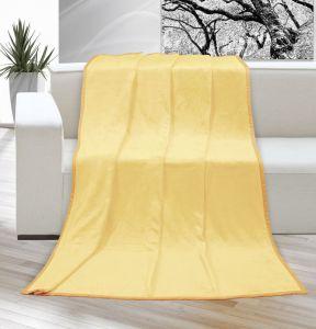 Deka micro jednofarebná svetlo žltá Kvalitex