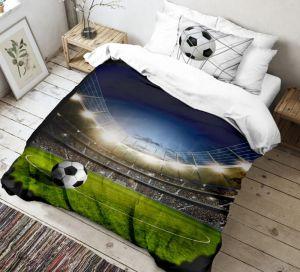 Bavlnené 3D obliečky pre všetkých futbalistov, | 140x200, 70x90 cm
