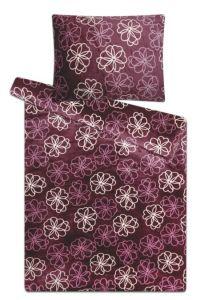 Mikroflanelové obliečky Kvetiny fialové