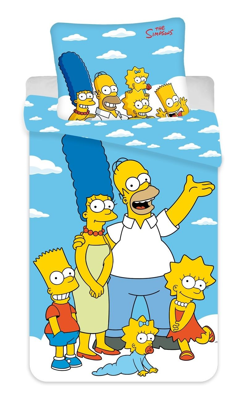 Obliečky Simpsons Family clouds 02 Jerry Fabrics