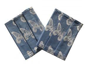 Utierka Extra savá 50x70 Motýle - modrá - 3 ks