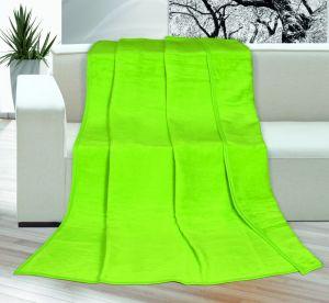Akrylová deka Kira jednofarebná - zelená,   rozmer 150x200cm.
