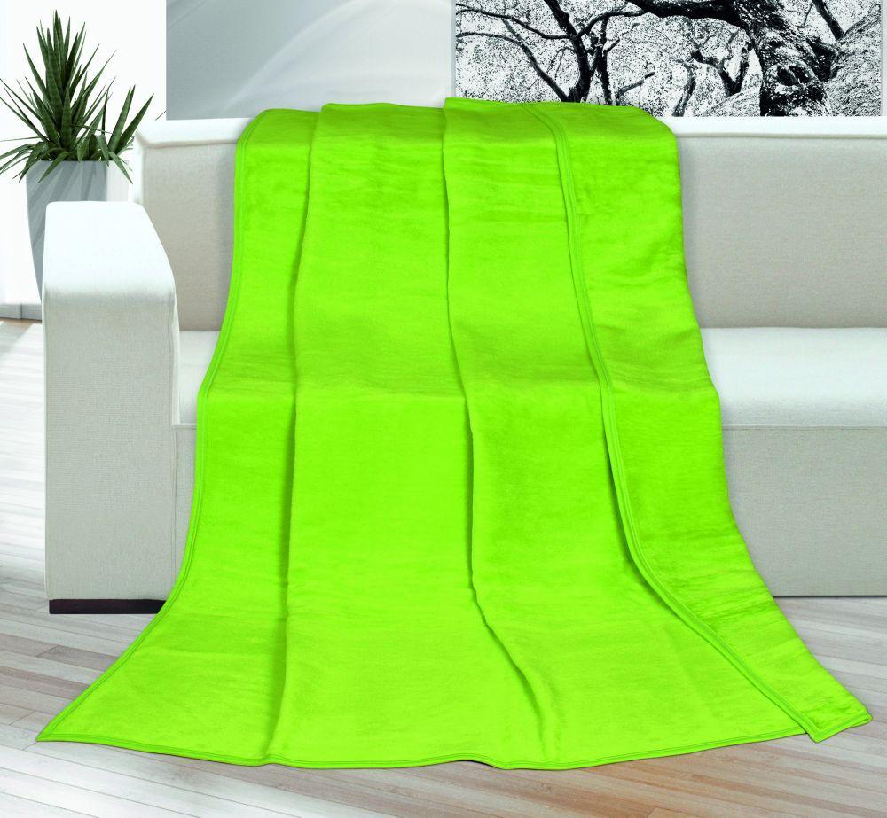 Akrylová deka Kira jednofarebná - zelená, Kvalitex