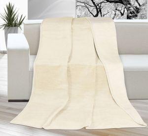 Akrylová deka Kira jednofarebná - tmavobéžová/svetlobéžová,   rozmer 200x230 cm.